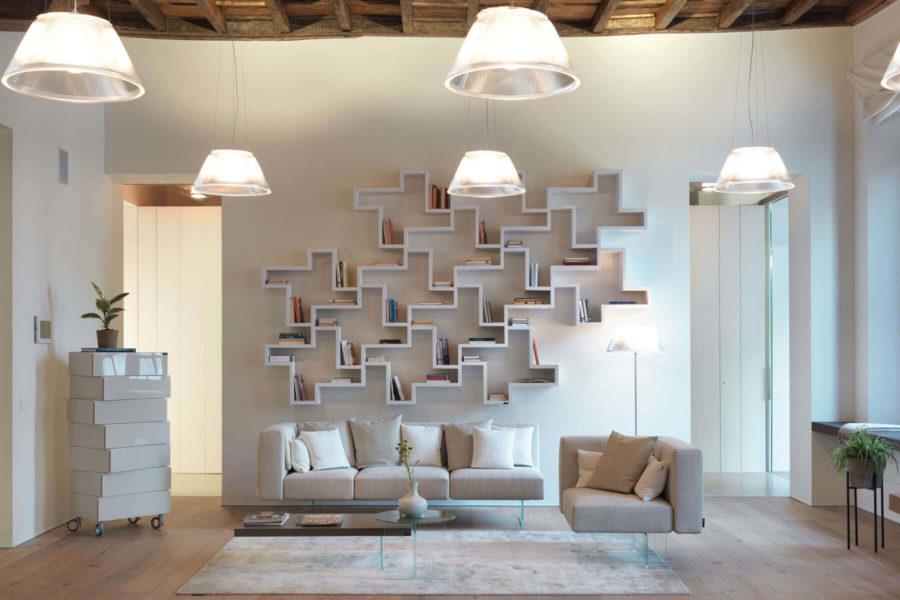 Le pareti attrezzate in soggiorno